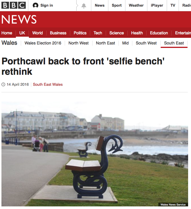 bbc news selfie bench